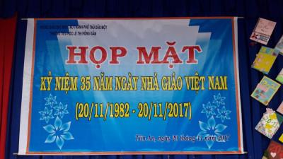 Họp mặt Ngày nhà giáo Việt Nam 20-11 năm học 2017 - 2018